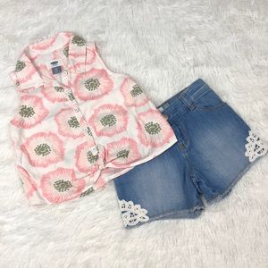 Old Navy Two Piece Outfit Shorts/Top Size 4T